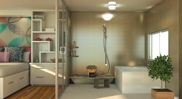 Ванная в спальне: советы по дизайну